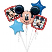 Buchet / set 5 baloane folie Mickey Mouse
