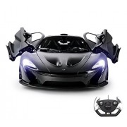 Playtech Logic Ptl Mclaren P1 1: 14 Remote Control Car Boys Girls Kids Toys with Opening Doors Via and Lights, Licensed Electric Radio Controlled Rc Cars for Kids, RTR 40Mhz (Black)
