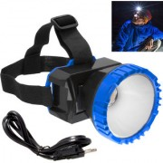 Rechargeable 1 Big Led Ultra Bright Headlamp Headlight Head Lamp Torch Flashlight - 45 A