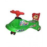 Panda Kartoon Swing Car - Green