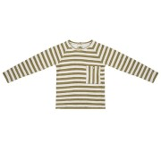 Little Indians Sweater - Olive Stripe - Size: 0-3 months