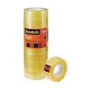 Despec Scotch klar tejp 508. 2 storlekar, 10rl/fp 15 mm x 33 m