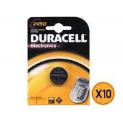 Duracell Pila a bottone Duracell al Litio 3V DL2450 - CF da 10 PZ