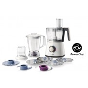 Robot de bucatarie Philips Viva Collection HR7762/00, 750W, Blender 1 l, Bol 1.5 l, Alb