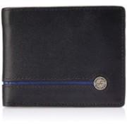 Fastrack Men Black, Blue Genuine Leather Wallet(9 Card Slots)