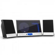 OneConcept Vertical 90 stereoanläggning CD USB MP3 SD AUX svart