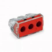 Set 10 conectori cu fixare prin impingere 3x2,5-6mm2 41A transparent Wago 773-173 (Wago)