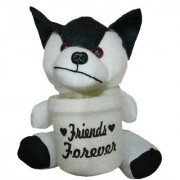 StarOne Collections Soft Toys With Pen Stand Holder- 18cm (White)