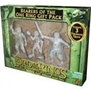 ToyBiz Year 2004 The Lord of the Rings Movie Series The Fellowship of the Ring Gift Pack - Bearers of the One Ring with 3 Translucent 4-1/2 Tall Action Figure (Prologue Bilbo with Sting-Slashing Action, Gollum and Twilight Frodo with Sword Slashin Action)