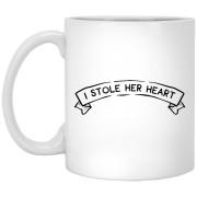 2316B - RTP - Wedding Quotes - I-Stole-Her-Heart - 11 oz. White Mug