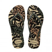 Havaianas Slim Animals teenslippers olijfgroen