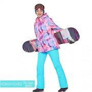 HuldaqueenMX Phibee al Aire Libre de esquí Traje pantalón Impermeables + Chaqueta Conjunto Deportes de Invierno Espesados Ropa Adulta de los Trajes de esquí Las Prendas de esquí