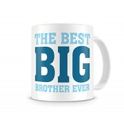 Grabadeal Beautiful White The Best Big Brother Ever Coffee Mug Gift for Raksha Bandhan