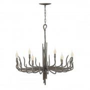 Candelabru fier forjat SPYRE, bronz metalic, H:85-385cm, 6xE14