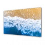 Tablou Canvas Premium Peisaj Multicolor Valurile apei pe plaja Decoratiuni Moderne pentru Casa 80 x 160 cm