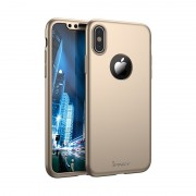 Husa Ipaky Iphone X Full Cover 360 - Gold