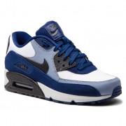 Обувки NIKE - Air Max 90 Leather 302519 400 Blue Void/Black/Ashen Slate