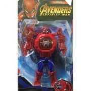 SHRIBOSSJI Transforming Robot Spider Man Toy Convert To Digital Watch Robot Transformation Hot Sale Wrist Watch