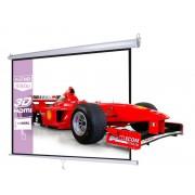Ekran projekcyjny 200x200cm 1:1 manualny, ścienny-sufitowy