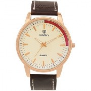 Scheffer's Yellow Dial Analog Watch For Men - SC-CRM-S-7020