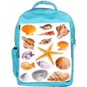 Snoogg Eco Friendly Canvas 14 Mussels And Star Fish Studio Isolated On White Backpack Rucksack School Travel Unisex Casual Canvas Bag Bookbag Satchel 5 L Backpack(Blue)