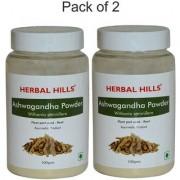 Herbal Hills Ashwagandha (Withania somnifera) Powder 100gms - Pack of 2 - For Vigor and vitality