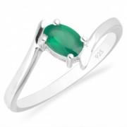 Inel argint Aurora 925 cu agat verde - IVA0039
