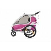 Remorca de bicicleta Qeridoo Kidgoo2 - roz+violet
