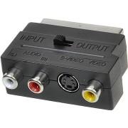 AV jel csatlakozó átalakító OEM Scart - 3x RCA + S-Video kapcsolható IN/OUT