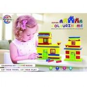 Ratna's Toyztrend Colourz Home Senior Colorfull Interlocking Blocks For Kids