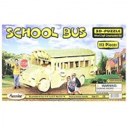 Puzzled Inc. 3D Natural Wood Puzzle - School Bus
