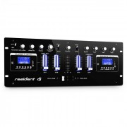 Resident DJ DJ DJ405USB-BK Table de mixage USB 4 voies 2x Bluetooth Enregistrement