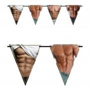 Merkloos 2x Vlaggenlijnen sexy torso 6 meter