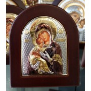 "Икона - Сребърна ""Богородица с Младенеца"" (EK2-007XAGC)"