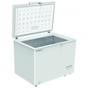 Lada frigorifica Samus LS280A+, 260 L, Control electronic, Termostat reglabil, Functie Fast freeze, Interior aluminiu, L 96 cm, Alb