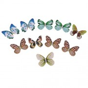 10 Pieces DIY Earrings Earrings Accessories Butterfly Wing Art Butterfly Wings Pendant Earrings Necklace Accessories Romantic Temperament DIY findings, 21mmx16mm, Plastic, Rhinestone