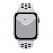 Watch, Apple Nike Series 5 GPS, 44mm Silver Aluminium Case with Pure Platinum/Black Nike Sport Band (MX3V2BS/A)