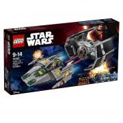 Lego star wars - tie advanced di vader contro a-wing starfighter