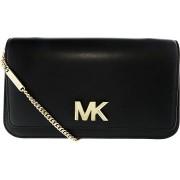 Geanta Michael Kors Mott Soft Box Leather Clutch 30T7GOXC3L Black