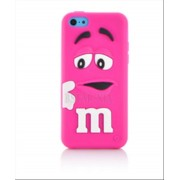 Voňajúce púzdro silicone M&M ružové (iphone 5C )