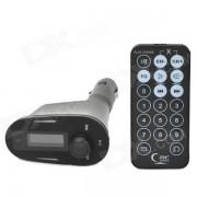 """1.0 """"Reproductor de MP3 Coche c/ FM Transmisor / ranura SD / USB - Negro"""