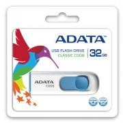 Adata Pendrive DashDrive Classic C008 32GB USB2.0 bia?o- niebieskie