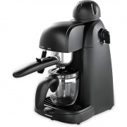 Espressor manual Heinner HEM-150BK, 800 W, 3.5 bar, Negru