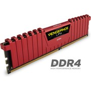 Corsair 4Gb Ddr4-2400 Vengeance Lpx Red 4Gb | CMK4GX4M1A2400C14R