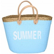 Shopper strandtas lichtblauw 20 liter