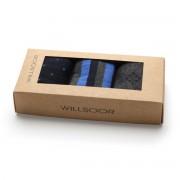 3 darabos férfi zokni szett szürke-kék színben 9935