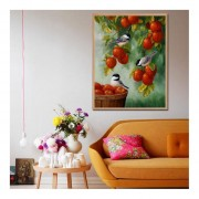 30*38CM J750 DIY Bird & Fruta Diamante Cruz Pintura Pintura De Resina