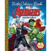 Little Golden Book Avengers Adventures (Marvel), Hardcover/***