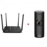 Рутер D-Link AC 1200 Wi-Fi Dual-Band Gigabit (LAN/WAN) Router + D-Link Mini HD Wi-Fi Camera, DIR-825_DCS-P6000LH