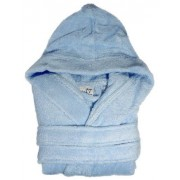 Peignoir de Bain ˆ Capuche COOKY (380g/m2) Bleu (5/6 ans)